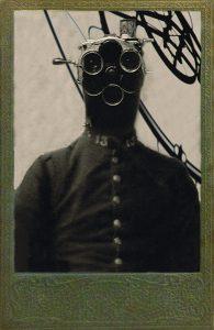 Portrait du Baron Von Nemau, explorateur et aventurier de l'Antremonde – Photographies et photomontage numériques sur carte cabinet – Stéphane Chauvet